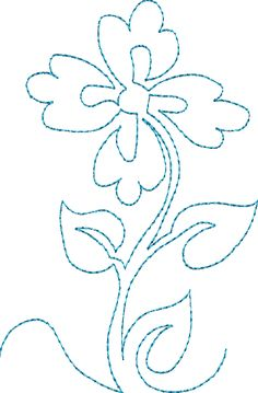 Continuous Single Line Quilting Flowers - Machine Embroidery Designs at Splinters & Threads