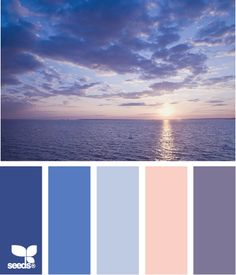 Design Seeds: color set, Sun Rise or Sun Set? Either way I love these colors and this photo.