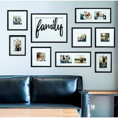 Darby Home Co Broderick 8 Piece Family Decor Picture Frame Set Family Wall Decor, Room Wall Decor, Living Room Decor, Living Roon, Bedroom Decor, Family Pictures On Wall, Living Room Pictures, Family Photos, Wall Decor With Pictures