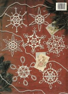 X586 Crochet PATTERN ONLY Super Snowflakes to Crochet Christmas Ornaments