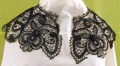 Black Cotton Lace Collar, c. 1900