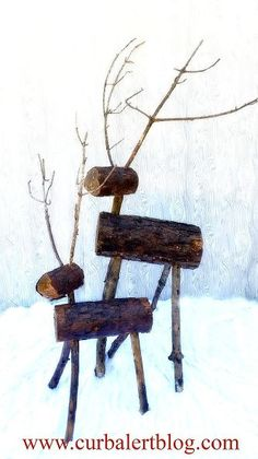 pottery barn knockoff outdoor wood deer, christmas decorations, crafts, seasonal holiday decor, woodworking projects