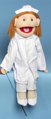 Nurse Full Body Puppet -  http://www.puppetgifts.com/people-puppets/career-service-full-body-puppets/nurse-full-body-puppet.html