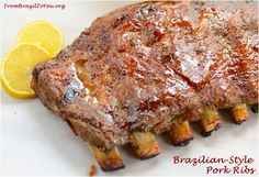 The most succulent Pork Ribs prepared in the oven to be enjoyed all year round...Dad's favorite!