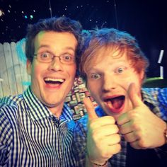 John Green and Ed Sheeran. I love them both so much!