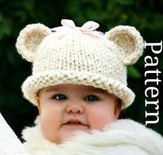 Knitting Pattern  Knit Hat Knitting pattern PDF  by CreatiKnit, $5.50