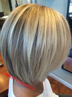 This cut is pretty Medium Hair Cuts, Short Hair Cuts, Short Hair Styles, Chic Short Hair, Bob Haircut For Fine Hair, Strawberry Blonde Hair Color, Blonde Bob Hairstyles, Balayage Hair Blonde, Short Hair With Layers