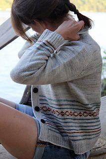Shaken or Stirred cardigan pattern by Thea Colman