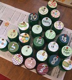 CHRISTMAS * baby jar advent calendar