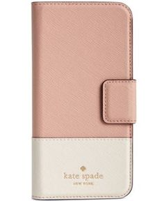 kate spade new york Leather Wrap iPhone 7 Folio Case - Brown