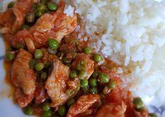 Mézes, zöldborsós csirkemellcsíkok Diabetic Recipes, Diet Recipes, Pork Dishes, Kung Pao Chicken, Bacon, Food And Drink, Menu, Ethnic Recipes, Menu Board Design