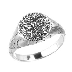 925 Sterling Silver Round Lotus Flower Unisex Ring *** Read more reviews of the product by visiting the link on the image. (This is an affiliate link and I receive a commission for the sales)