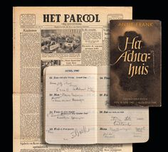 Otto Frank begins to look for a publisher. It is not easy. He only succeeds when a famous professor writes a moving article about the diary in the Dutch newspaper 'Het Parool'. Two years after the war, Anne's diary is published as a real book with the title 'The Secret Annexe'. On that day, Otto Frank simply writes in his own diary: 'Book'.