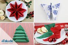Weihnachten steht vor der Tür! In dieser Anleitung zeigen wir Ihnen, wie Servietten falten für Weihnachten - ob Stern, Engel, Tannenbaum oder Stiefel!