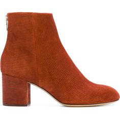 Rag & Bone embossed suede boots ($584) ❤ liked on Polyvore featuring shoes, boots, orange, orange suede boots, orange boots, suede shoes, suede boots and suede leather shoes