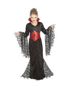 Black Lace V&ira Girls Costume - Spirithalloween.com  sc 1 st  Pinterest & Girls Black Widow Spider Witch Vampire Halloween Costume Dress ...