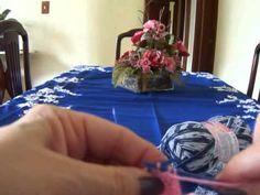 Vídeo Aula meia de tricô para bebê Parte 1