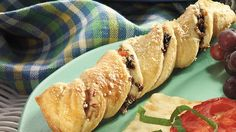 Pack an olive twist into crescents for appetizers Italiano!