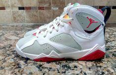 low cost 3f549 df98c Nike Air Jordan VII 7 Retro BG White  amp  True Red Light Silver 304774-