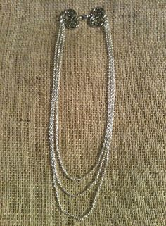 20 18 16  Sterling Silver Plated Multi Strand by MetalsByMelissa, $20.00 https://www.etsy.com/listing/121658005/20-18-16-sterling-silver-plated-multi