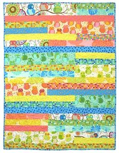 "Simple strips free easy quilt pattern Della Flannel by Valori Wells 37 1/2"" x 54"".   Downloaded pdf to folder"