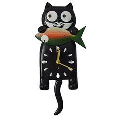 Giftgarden® Cat Wall Clock with Tail Pendulum, Classic Bl... http://www.amazon.com/dp/B01GC3HYU2/ref=cm_sw_r_pi_dp_y4rvxb1N5MFRD