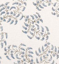 Pea Pods Blue on White | Prints | Fabrics | Robert Kime Ltd. | Antiques | Fabrics | Wallpapers | Furniture | Lighting | Carpets | Accessories |