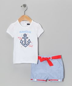 White Anchor Tee & Shorts - Infant & Toddler | Daily deals for moms, babies and kids