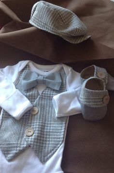 Theodore Shoes and Hat- Baby Boy Clothes – Newborn  Outfit -  Photo Prop- Baby  Shower Gift- Preppy- Baby Boy Shoe-Christol and Company