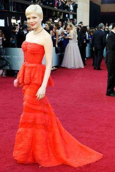 Michelle Williams wears Louis Vuitton. Foto: Reuters