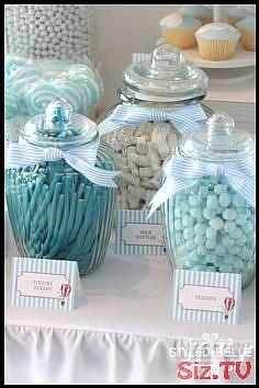Boy S Hot Air Ballon Themed Christening Candy Jars Dessert