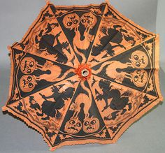 VINTAGE CREPE PAPER HALLOWEEN UMBRELLA WITH JACK O LANTERNS WITCHES CATS   Collectibles, Holiday & Seasonal, Halloween   eBay!