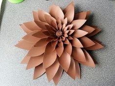 Amber Paper Flower - YouTube