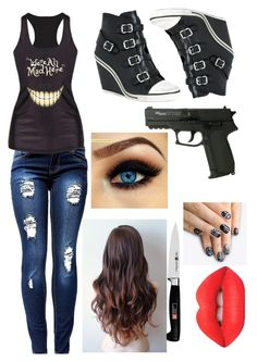 """Alice in Zombieland"" by bluiz13 ❤ liked on Polyvore featuring Ash, Lime Crime, alfa.K and Zwilling J.A. Henckels"