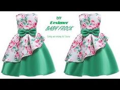DIY Designer box pleated Layer BABY FROCK cutting and Stitching full tutorial - YouTube