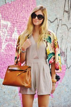 How cute is The Blonde Salad's Chiara Ferragni's floral blazer?Photographed by Melanie Galea