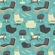 Chair Blue Repeat by Alyssa Nassner