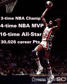 Correction: Sorry to inform you but; Dr. J was a two-time ABA Champ (New York Nets: 1974 and 1976) and one-time NBA Champ (Philadelphia 76ers: 1983). I love the Doc, but facts are facts.