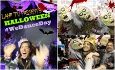 Wow! Wish I'd been there with all you ghouls rocking it! It certainly was the best wake up for me... I watched, and DANCED as I was preparing my #superhumanbreakfast  Love #wedanceday   Halloween! LMFAO - Party Rock Anthem #WeDanceDay I Laura Hames Franklin