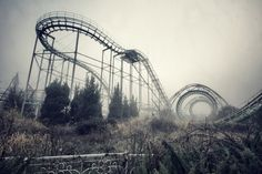 Abandoned Roller Coaster  #abandoned #roller #coaster #photography