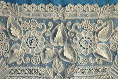 2 Antique Vintage Brussels Duchesse Dress Panels Wide Cuffs | eBay