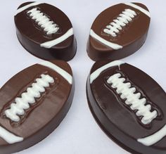 FOOTBALL Chocolate Covered Oreos*12 Count*NFL*Football Party*Super Bowl…