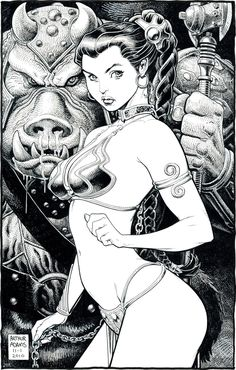 Princess Leia by Arthur Adams