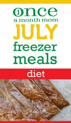 Diet July 2012 Menu | OAMC from Once A Month Meals