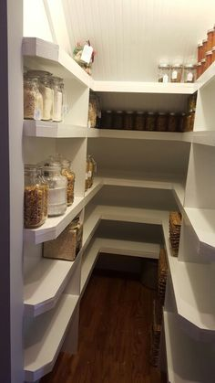 Under the stairs pantry, small pantry, white pantry, pantry ideas, small pantry ideas, Kent house
