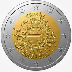 2 Euro Commemorative Coins Spain 2012, Ten years of Euro cash