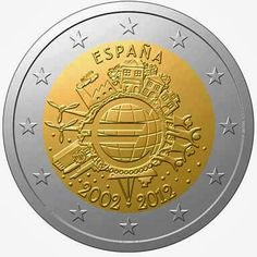 2 Euro Commemorative Coins Spain 2012, Ten years of Euro cash