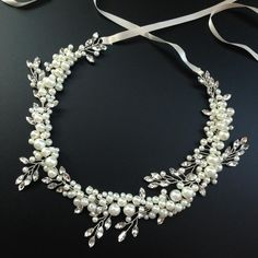 Pearl Hair Vine Wedding Crown Hand Wired Headband Tiara Crystal Beaded Bridal Headpiece New Arrival Wedding Hair Accessories Online with $26.14/Piece on Otolove's Store | DHgate.com