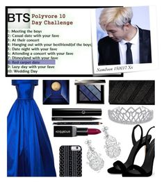 """""""BTS Polyvore 10 Day Challenge: Day 8"""" by carol-comt ❤ liked on Polyvore featuring Post-It, Giuseppe Zanotti, Jessica McClintock, Savannah Hayes, MAC Cosmetics, Gucci, Smashbox, Versace, Burberry and bts"""