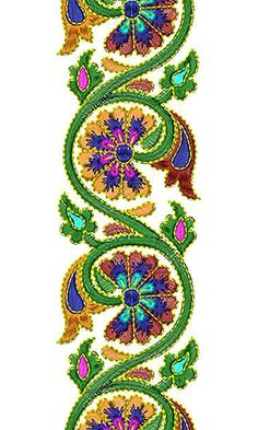 Now you can enjoy our Premium Range Embroidery Designs of Lace Jacobean Embroidery, Border Embroidery, Flower Embroidery Designs, Folk Embroidery, Learn Embroidery, Embroidery Stitches, Embroidery Patterns, Sewing Machine Embroidery, Hand Embroidery Tutorial